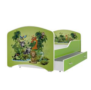 ArtAJ Detská obrázková posteľ Igor 180 x 80 farba postele: zelená 180 x 80 cm
