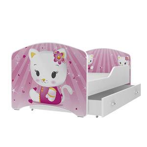 ArtAJ Detská obrázková posteľ Igor 160 x 80 Farba: Biela, Typ: Skladová zásoba - 1 ks, Cyra: 160 x 80 cm
