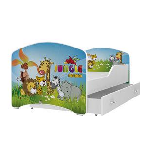 ArtAJ Detská obrázková posteľ Igor 160 x 80 farba postele: biela 160 x 80 cm