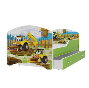 ArtAJ Detská obrázková posteľ Igor 160 x 80 farba postele: zelená 160 x 80 cm