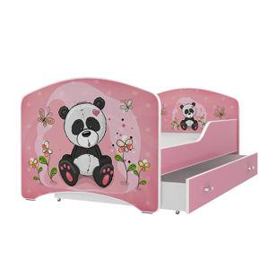 ArtAJ Detská obrázková posteľ Igor 160 x 80 farba postele: ružová 160 x 80 cm