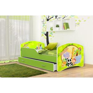 ArtAJ Detská obrázková posteľ Igor 140 x 80 farba postele: zelená 140 x 80 cm