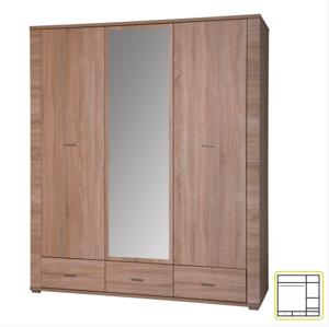 Tempo Kondela Vešiaková skriňa so zrkadlom GRAND 02 / 3D3S