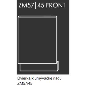 Kuchynská linka PLATINUM Kuchyňa: Dvierka k umývačke riadu ZM57/45 / 45 cm