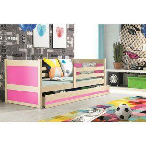 BMS Detská posteľ RICO 1 / BOROVICA 200x90 Farba: Ružová