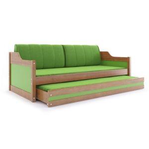 BMS Detská posteľ DAWID / JELŠA 190x80 Farba: Zelená