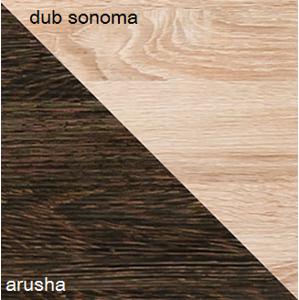 Dolmar  Konferenčný stolík CARMELO C12 Farba: Dub sonoma / arusha
