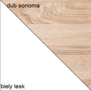 Dolmar  Konferenčný stolík CARMELO C12 Farba: Dub sonoma / biely lesk
