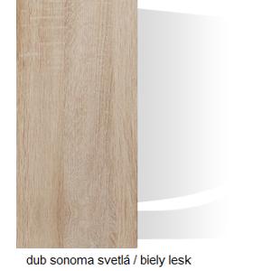 WIP Komoda SOLAR SLR 01 Farba: Dub sonoma svetlá / biely lesk