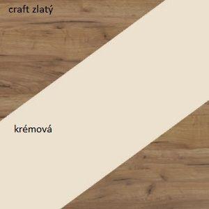 WIP Skriňa NOTTI 01 Farba: craft zlatý / krémová / craft zlatý