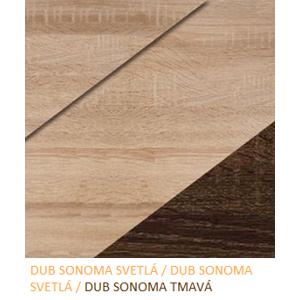 WIP Šatníková skriňa NOTTI 07 Farba: Dub sonoma svetlá / dub sonoma svetlá / dub sonoma tmavá