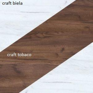 WIP Vitrína NOTTI 08 Farba: craft biely / craft tobaco / craft biely