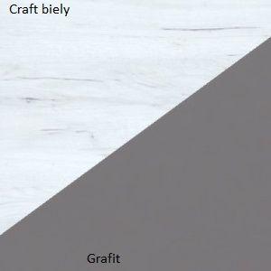 WIP Šatníková skriňa VERA VER-07 Farba: craft biely / grafit
