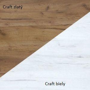 WIP Konferenčný stolík BOSTON Farba: Craft biely / craft zlatý