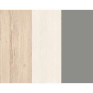 MLnábytok Regál BEST 03 / breza / biela LINEA Farba: breza/biela/sivá