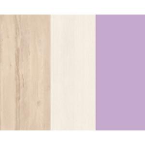 MLnábytok Komoda BEST 16 / breza / biela LINEA Farba: breza/biela/fialová