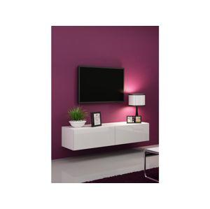 Artcam RTV stolík VIGO 140 Farba: Biela/biely lesk