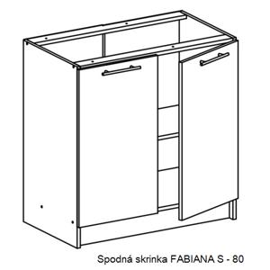 Tempo Kondela Kuchynská linka FABIANA / dub sonoma FABIANA: Spodná skrinka FABIANA S-80 / (ŠxVxH) 80x82x46 cm