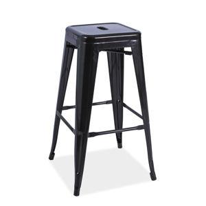 Signal Barová stolička LONG Farba: Čierna