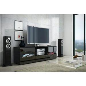WIP Tv stolík Global 2 Farba: Čierna/čierny lesk