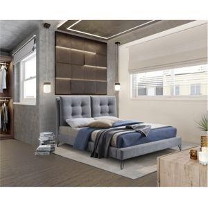 TEMPO KONDELA Moderná posteľ, sivá, 180x200, KOLIA