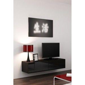 Artcam RTV stolík VIGO 140 čierny/čierny lesk