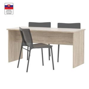 TEMPO KONDELA Písací stôl, obojstranný, dub sonoma, JOHAN NEW 08 JH112