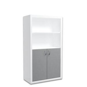 ArtAJ Regál FILIP veľký / COLOR Farba: biela / sivá