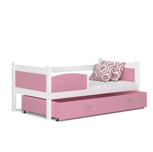 ArtAJ Detská posteľ TWIST P / biela - MDF Farba: biela / ružová, Prevedenie: bez matraca