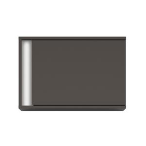 BRW Závesná skrinka Graphic SFW1DP/C Farba: sivý wolfram / biely lesk