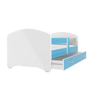 ArtAJ Detská posteľ Lucky 180 x 80 Farba: Modrá, Prevedenie: bez matraca, Rozmer, materiál: 180 x 80 cm