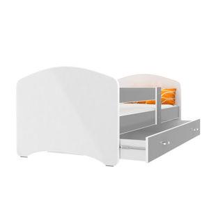 ArtAJ Detská posteľ Lucky 180 x 90 Farba: Sivá, Prevedenie: bez matraca, Rozmer, materiál: 180 x 90 cm