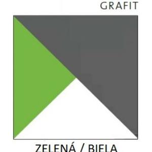 Dolmar  Polička Futuro F10 Farba: biela / zelená
