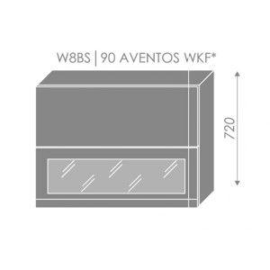 ArtExt Kuchynská linka Florence - lesk Kuchyňa: Horná skrinka W8BS/90 AVENTOS WKF/ rám vo farbe dvierok (ŠxVxH) 90 x 72 x 32,5 cm