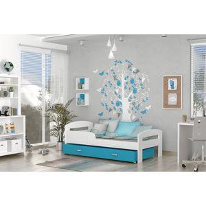 ArtAJ Detská posteľ Grzes 1808 Farba: biela / modrá, Prevedenie: bez matraca