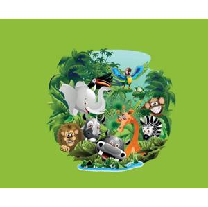 ArtAJ Detská posteľ Tami P / biela Tami: džungľa bez matraca