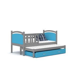 ArtAJ Detská posteľ Tami P2 / color Farba: sivá/modrá, Prevedenie: s matracom