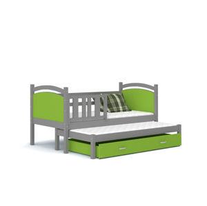 ArtAJ Detská posteľ Tami P2 / color Farba: sivá/ružová, Prevedenie: s matracom