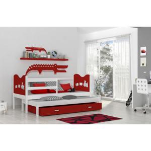ArtAJ Detská posteľ max P2 1848 Farba: biela / červená, Prevedenie: s matracom