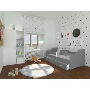ArtAJ Detská posteľ Sweety 160x80 Sweety: sivá / sivá bez matraca