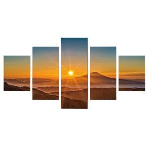TEMPO KONDELA Obraz tlačený na plátno, viacfarebný, DX TYP 6 ZÁPAD SLNKA