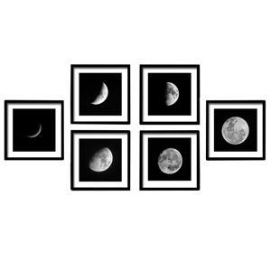 TEMPO KONDELA Zasklený tlačený obraz, biela/čierna, DX TYP 10 Mesiac
