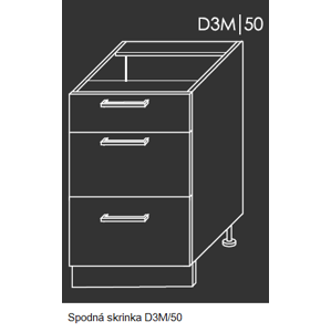 ArtExt Kuchynská linka Pescara Kuchyňa: Spodná skrinka D3M/50 / (ŠxVxH) 50 x 82 x 50 cm