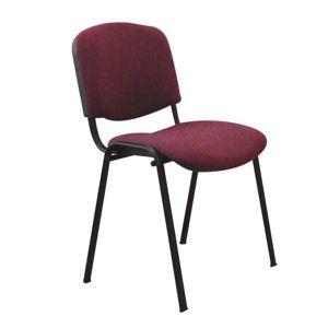 Kancelárska stolička, bordová, ISO NEW C-29, rozbalený tovar