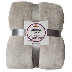 TEMPO KONDELA Obojstranná deka, biela, 205x220, ANKEA TYP 2