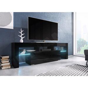 WIP TV stolík EVEREST 160 Farba: Čierny / Čierny lesk