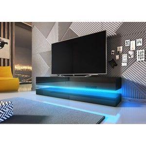 WIP TV stolík FLY Farba: čierna / čierny lesk