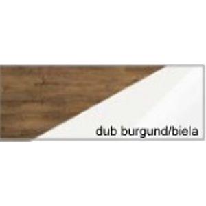 WIP Šatníková skriňa Maximus MXS-06 Farba: dub burgund/biela lesk