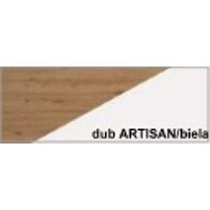 WIP Predsieňová stena RIO 12 Farba: Dub ARTISAN/biela lesk