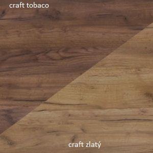 WIP Šatníková skriňa RIO 22 Farba: Craft tobaco / craft zlatý